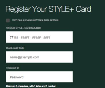 TJX style plus card register