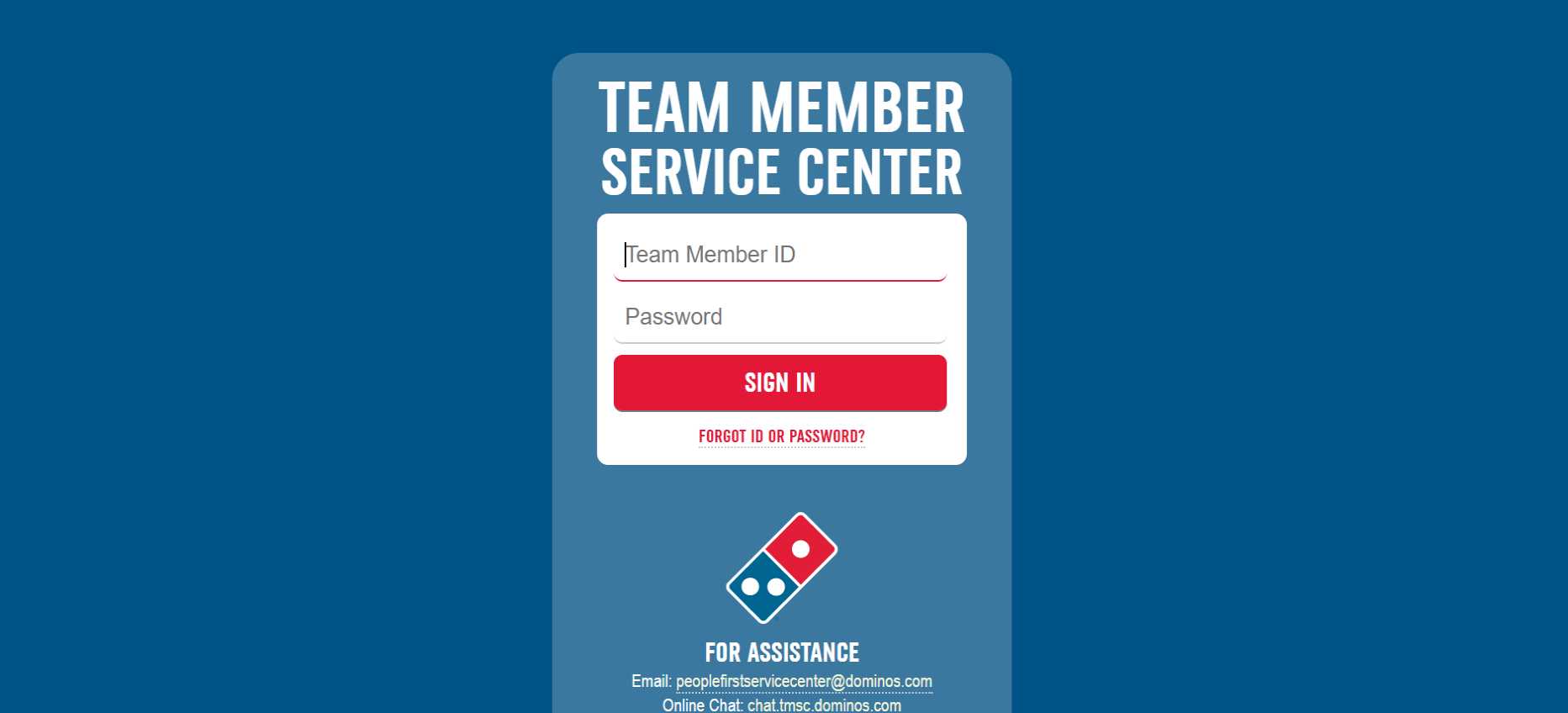 Dominos employee portal
